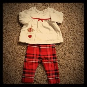 Gymboree baby girl matching set